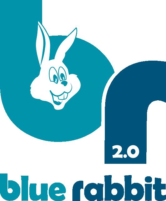Blue rabbit logo