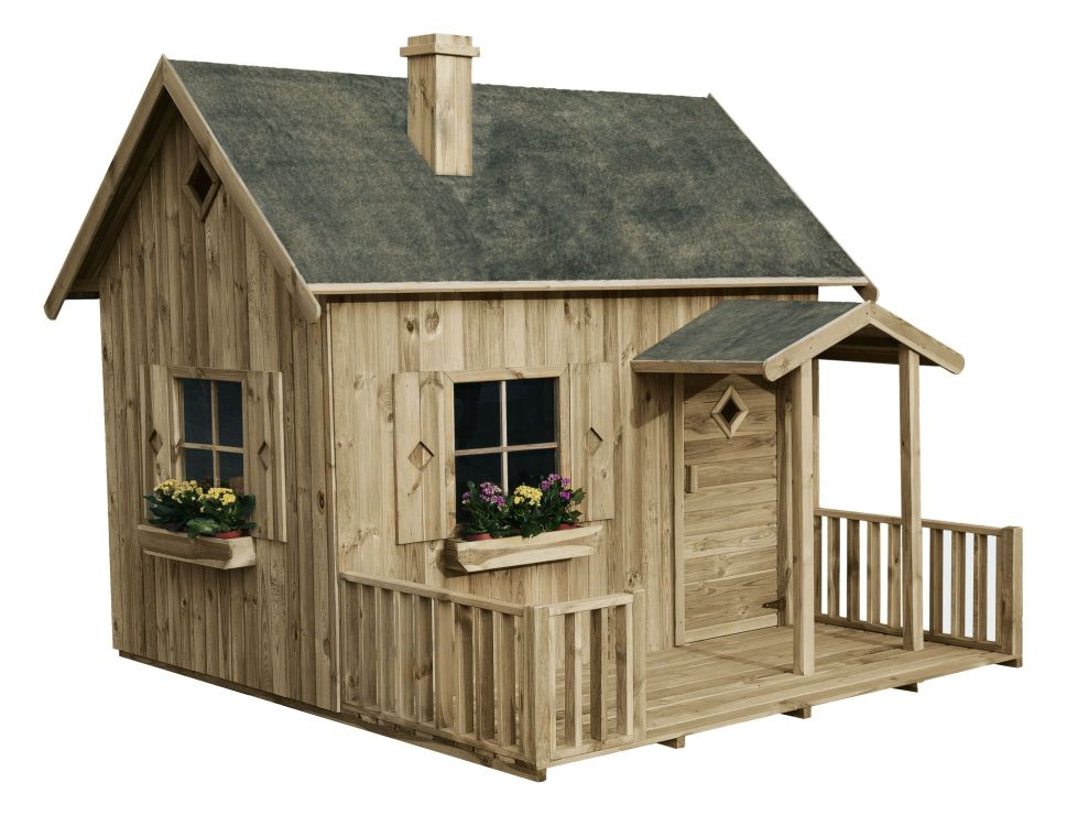 Speelhuisjes safari safari houten speelhuisje for Casetta bambini usata