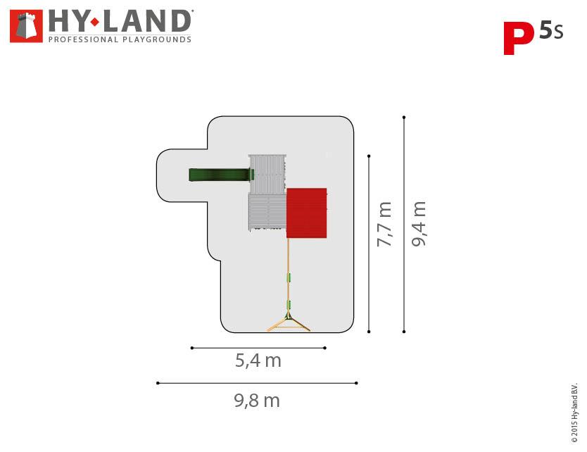 Hy-Land P5s bovenaanzicht