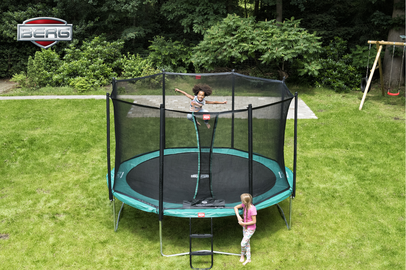 Berg Favorit Tattoo 430 + Safety Net Comfort trampoline