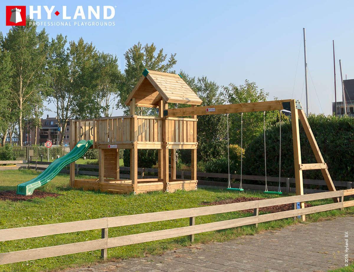 Hy-Land P5s groene kunststof glijbaan
