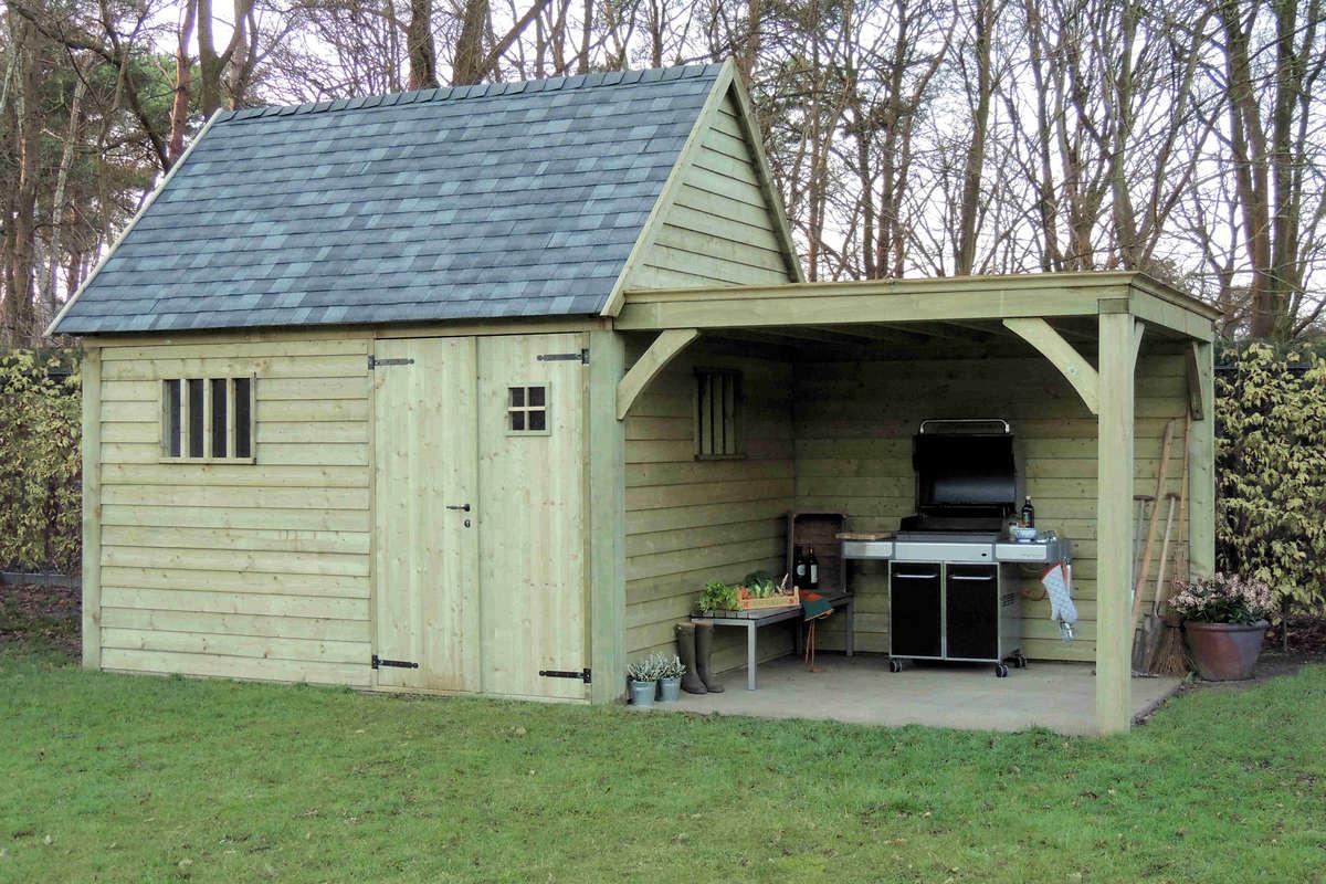 Losse Overkapping Tuin : Tuin dier houten bijgebouwen cottage huizen cottage