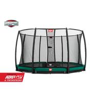 Berg InGround Champion 270 + safety net deluxe trampoline