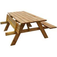 houten picknicktafel