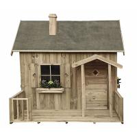 houten speelhuis Neushoorn